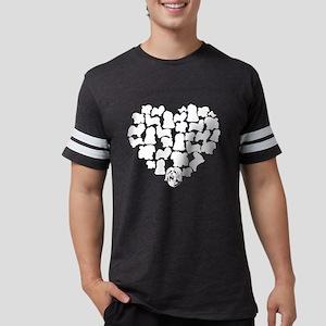 Havanese Heart T-shirt Mens Football Shirt