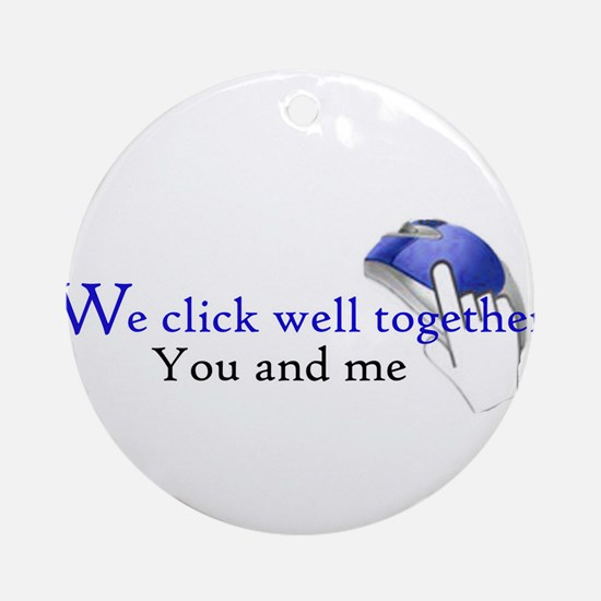 We click together Ornament (Round)