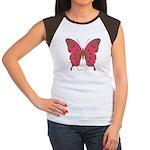 Affection Butterfly Women's Cap Sleeve T-Shirt