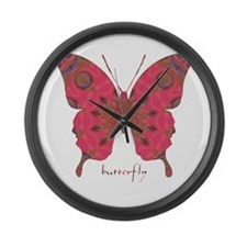 Affection Butterfly Large Wall Clock