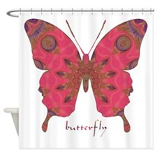 Affection Butterfly Shower Curtain