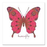 Affection Butterfly Square Car Magnet 3