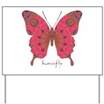 Affection Butterfly Yard Sign