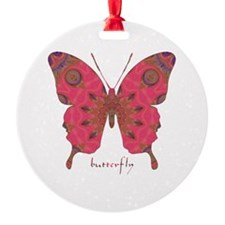 Affection Butterfly Round Ornament