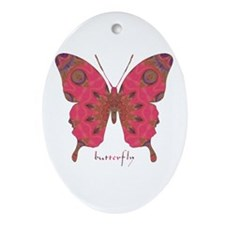 Affection Butterfly Ornament (Oval)