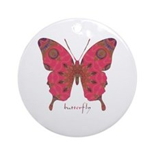 Affection Butterfly Ornament (Round)