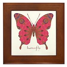 Affection Butterfly Framed Tile