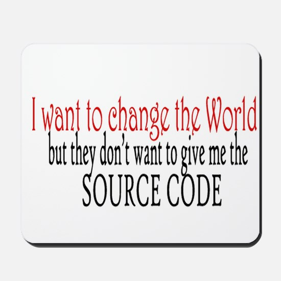 Change the world Mousepad