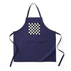 chessboardsmposterNOTEXT Apron (dark)