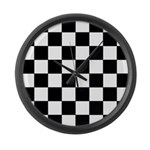 chessboardsmposterNOTEXT Large Wall Clock