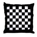 Chess Board Pattern Throw Pillow