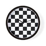 Chess Board Pattern Wall Clock