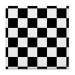 Chess Board Pattern Tile Coaster