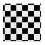 Chess Board Pattern Tile Coaster