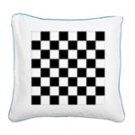 Chess Board Pattern Square Canvas Pillow