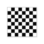 "Chess Board Pattern Square Sticker 3"" x 3"