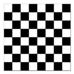 Chess Board Pattern Square Car Magnet 3""