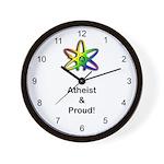 Atheist & Proud Wall Clock