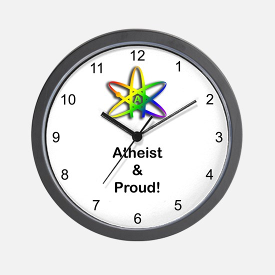 Atheist & Proud Wall Clock