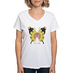 Omm Butterfly Women's V-Neck T-Shirt