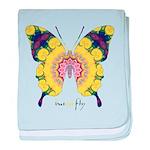 Omm Butterfly baby blanket