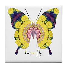 Omm Butterfly Tile Coaster