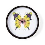 Omm Butterfly Wall Clock