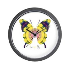 Omm Butterfly Wall Clock