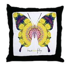 Omm Butterfly Throw Pillow