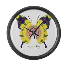 Omm Butterfly Large Wall Clock