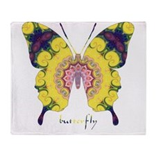 Omm Butterfly Throw Blanket