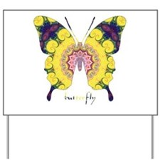 Omm Butterfly Yard Sign