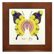 Omm Butterfly Framed Tile