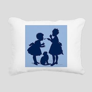Tasting Silhouette Rectangular Canvas Pillow