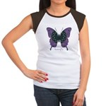 Attitude Butterfly Women's Cap Sleeve T-Shirt