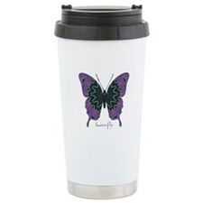 Attitude Butterfly Stainless Steel Travel Mug