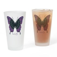 Attitude Butterfly Drinking Glass