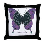 Attitude Butterfly Throw Pillow