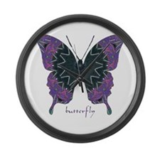 Attitude Butterfly Large Wall Clock