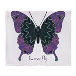 Attitude Butterfly Throw Blanket