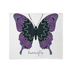 Attitude Butterfly Throw Blanket