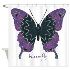 Attitude Butterfly Shower Curtain