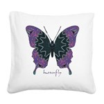Attitude Butterfly Square Canvas Pillow