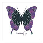 Attitude Butterfly Square Car Magnet 3