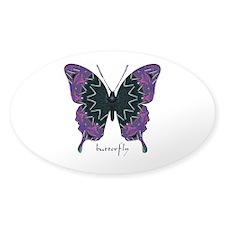 Attitude Butterfly Sticker (Oval)