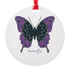 Attitude Butterfly Round Ornament
