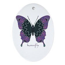 Attitude Butterfly Ornament (Oval)