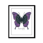 Attitude Butterfly Framed Panel Print