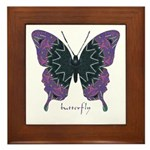 Attitude Butterfly Framed Tile