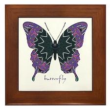 Attitude Butterfly Framed Tile